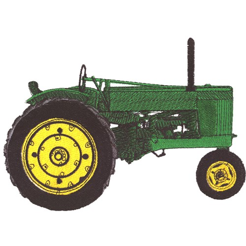 Embroidery Of Tractors : Machine embroidery outline design for john deere tractor