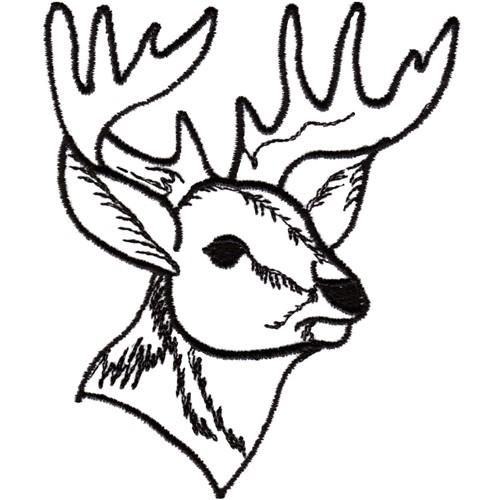 reindeer head outline.