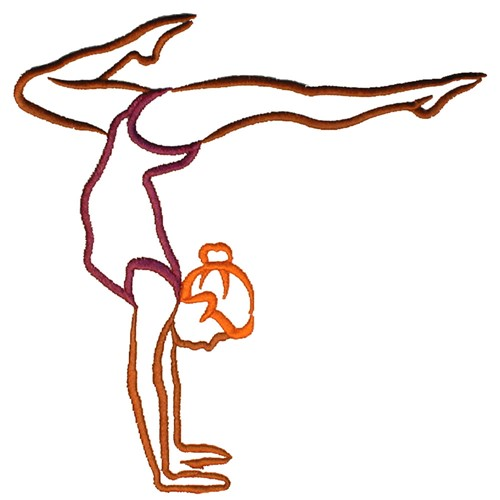 Grand Slam Designs Embroidery Design Female Gymnast 302