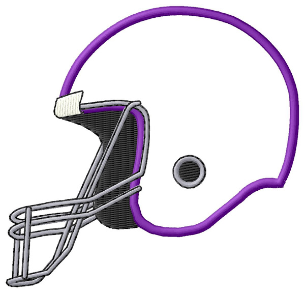 Helmet Outline Football Helmet Outline