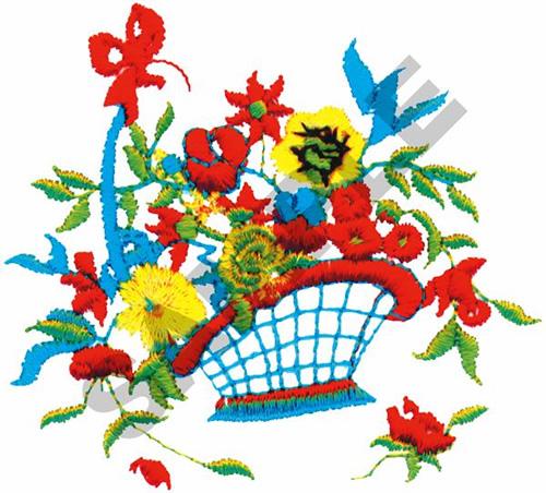 Free Flower Basket Embroidery Designs : Flower basket embroidery design