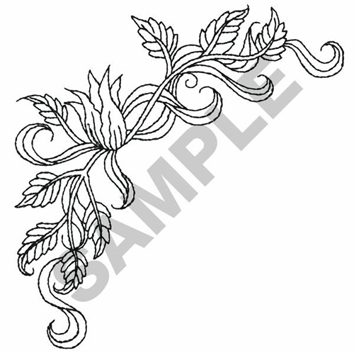 Great Notions Embroidery Design FLOWER OUTLINE 500
