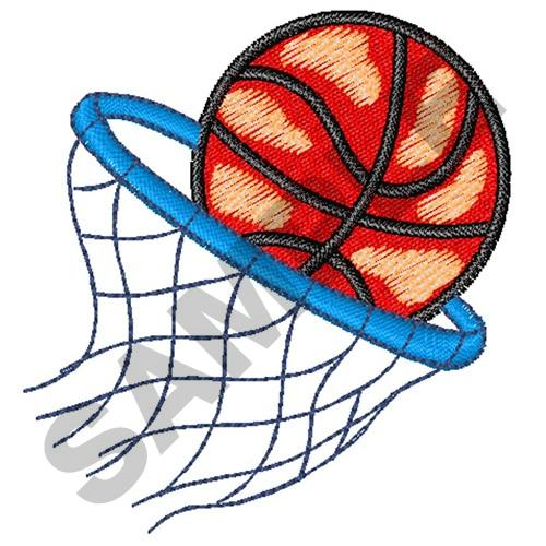 Great notions embroidery design basketball hoop