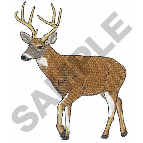 Great notions embroidery design whitetail deer