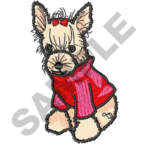 Great notions embroidery design yorkshire terrier dog