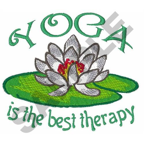 Great notions embroidery design yoga is best therapy