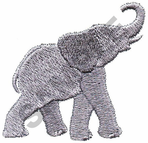 Great Notions Embroidery Design ELEPHANT 227 Inches H X