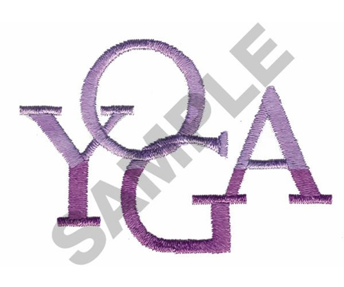 Great notions embroidery design yoga inches h