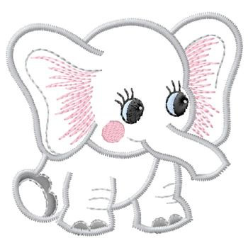 Gunold Embroidery Design Baby Elephant 360 Inches H X 3