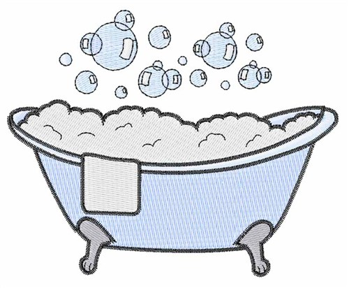 Hopscotch Embroidery Design: Bubbly Bathtub 2.87 inches H ...