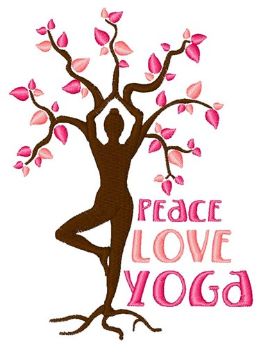 Hopscotch embroidery design peace love yoga inches h