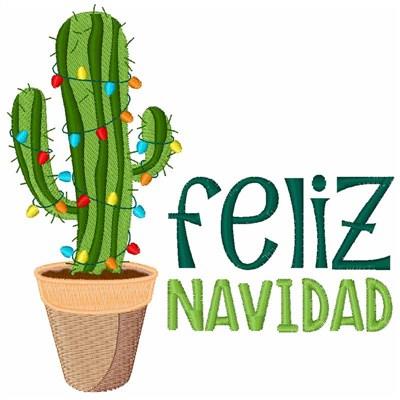 Hopscotch Embroidery Design Cactus Feliz Navidad 4 02