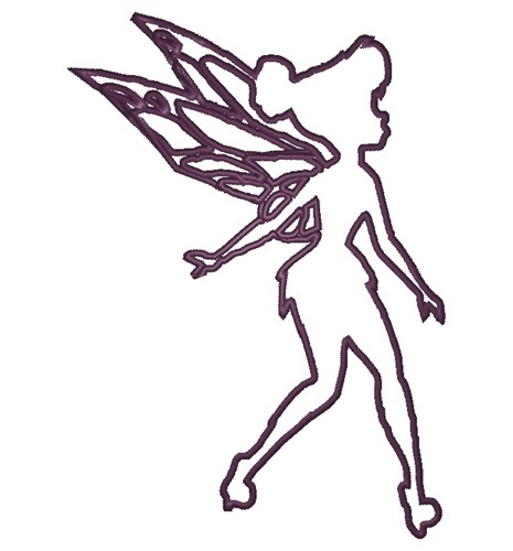 King Graphics Embroidery Design Fairy Outline 370 Inches