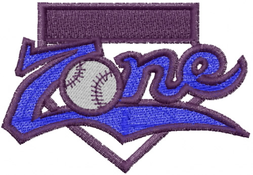 Lyns emb embroidery design in the zone baseball
