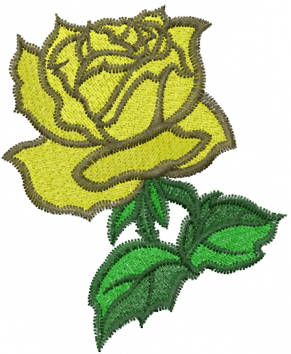 Machine embroidery designs design yellow rose