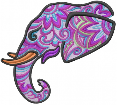 Machine Embroidery Designs Embroidery Design Elephant