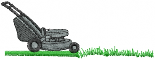 Mead artworks embroidery design lawn mower inches h x inches w - Lawn mower for small spaces decor ...