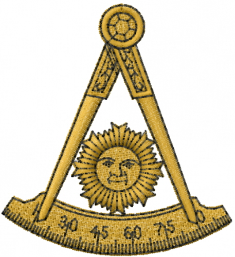 Past Master Masonic Embroidery Design