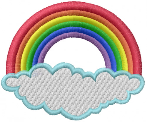 Mead artworks embroidery design rainbow and cloud