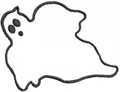 Halloween Ghost Outlines Mediterranean Designs Embroidery Design