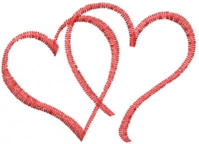 mediterranean designs embroidery design double heart