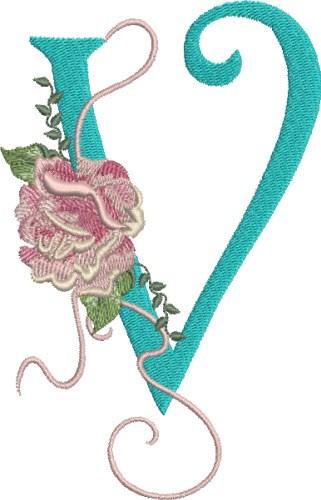 Pat williams embroidery design harrington rose v
