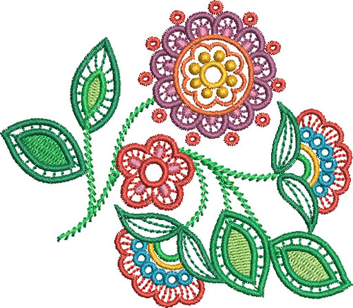 Jacobean flower - Cute Embroidery