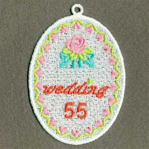 Premium embroidery design fsl wedding