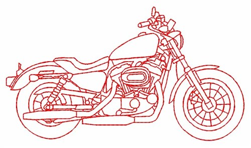 Motorbike Embroidery Designs