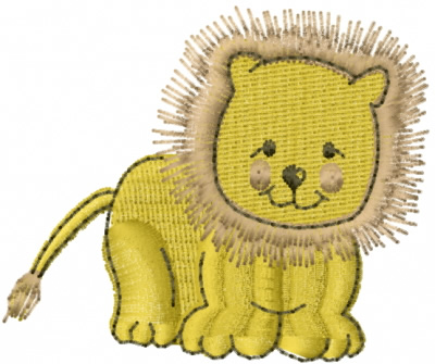 Speedracer Graphics Embroidery Design Baby Lion 177