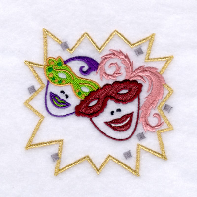 Mardi Gras Embroidery Design by CreationsbyShondag on Etsy