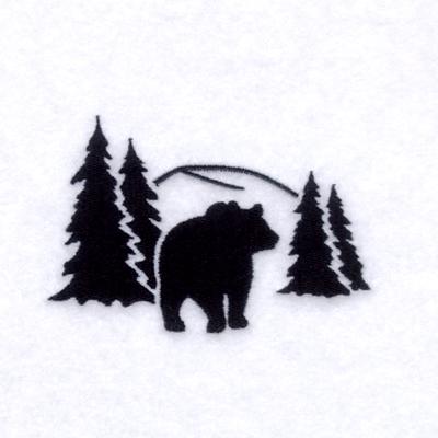 Bear Silhouette Patterns Bear silhouette scene