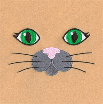 Starbird Inc Embroidery Design Cat Robe Face 323 Inches