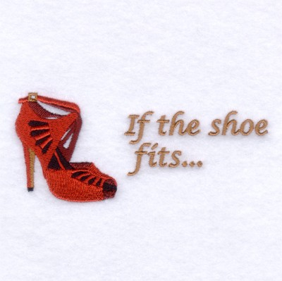 Designshoe Online on If The Shoe Fits Embroidery Design