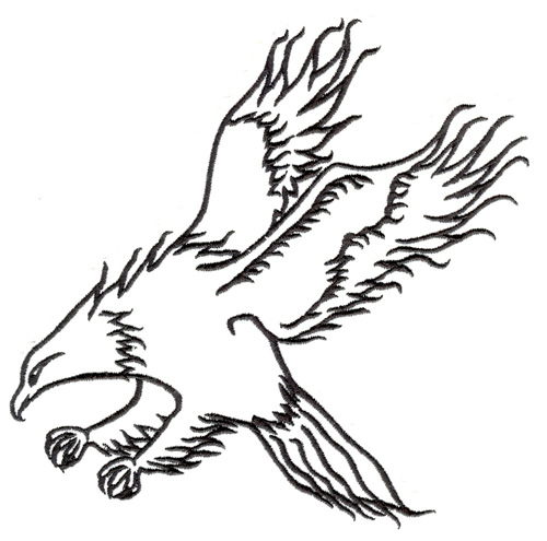 Embroidery.com: Flaming Hawk: Embroidery Designs, Thread and Products