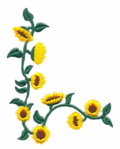 Stitchitize Embroidery Design: Sunflower Border 3.59 ...