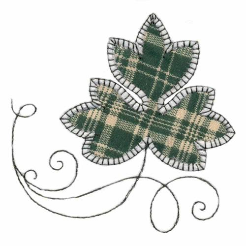 Stitchitize embroidery design leaf reverse applique