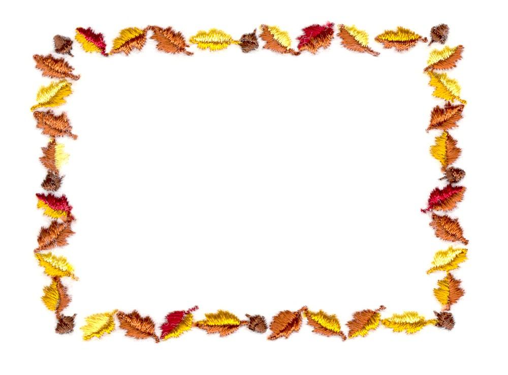 Stitchitize embroidery design autumn leaf border