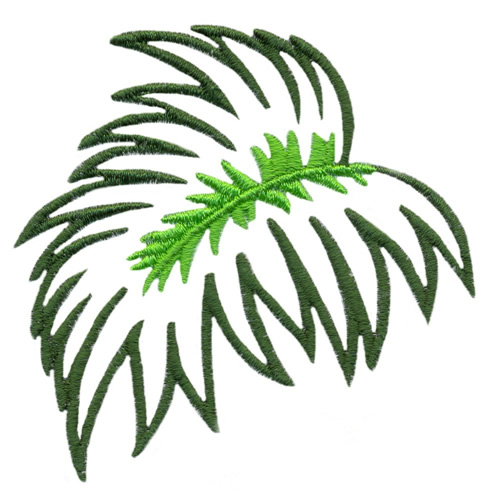 Stitchitize Embroidery Design Palm Leaf Outline 294 Inches H X 299