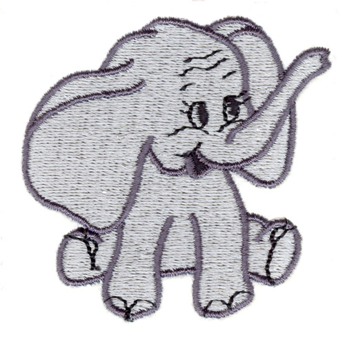 Stitchitize Embroidery Design Little Elephant 252 Inches