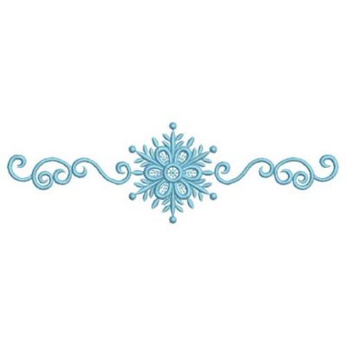 Sweet Heirloom Embroidery Design Snowflake Border 209