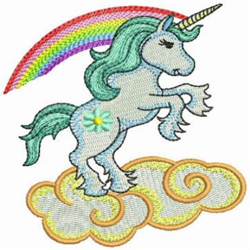 Wind bell embroidery design unicorn