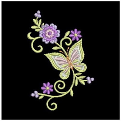 Embroidery Designs Flowers And Butterflies Images