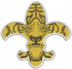 LSU Tiger Paw Embroidery Design