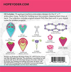 Sweet Scissor Cases Embroidery Designs CD