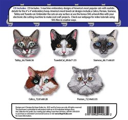 Cat Tales Embroidery Designs CD
