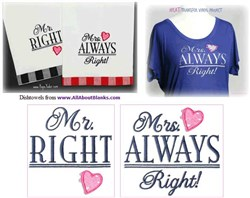 Mrs Always Right & Mr. Right Embroidery CD