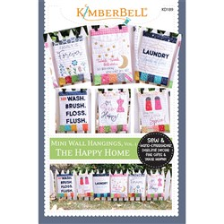 Mini Wall Hangings- The Happy Home- Sewing Version Designs CD