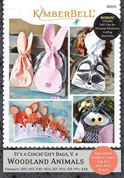 Its a Cinch! Gift Bags Vol.4 Woodland Animals Embroidery Designs CD