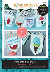 Pennants and Banners Summer Lovin' Machine Embroidery Designs CD